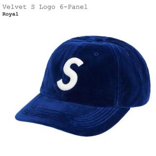 Supreme - supreme  Sロゴ ベルベット 6-panel キャップ
