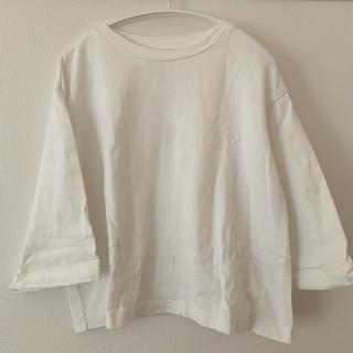 MUJI (無印良品) - 無印良品 七分袖太番手Tシャツ・白