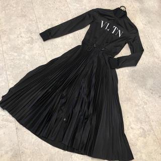 VALENTINO - 美品 VALENTINO VLTN ジャージープリーツドレス XS