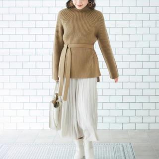 le.coeur blanc - 新品✨定価10450円 ルクールブラン 丈長めのお洒落なニット ベージュ系大特価