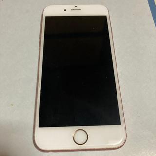 アップル(Apple)のiPhone6s 128ギガローズゴールドシムフリーベゼル半円状のわれあり(スマートフォン本体)
