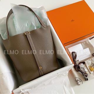 Hermes - HERMES エルメス ピコタンロック 22 MM エトゥープ×ゴールド金具