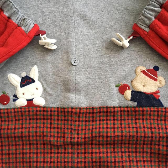 familiar(ファミリア)のえりちゃん様専用☆ファミリア  3wayブランケット 赤 キッズ/ベビー/マタニティのこども用ファッション小物(おくるみ/ブランケット)の商品写真