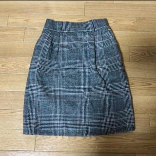 パピヨネ(PAPILLONNER)の4every 膝丈チェック柄タイトスカート(ひざ丈スカート)