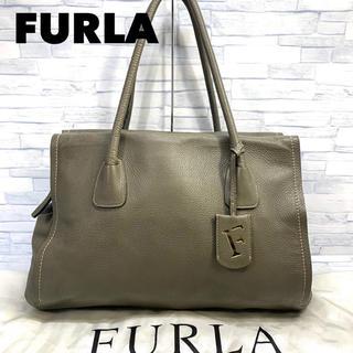フルラ(Furla)の美品 FURLA フルラ  肉厚 レザー ハンドバッグトートバッグ(トートバッグ)