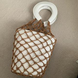 TOMORROWLAND - staud 風 バケットバッグ かご 網 ホワイト