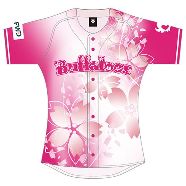 オリックス・バファローズ(オリックスバファローズ)のBsオリ姫デー 2020 ユニフォーム スポーツ/アウトドアの野球(応援グッズ)の商品写真