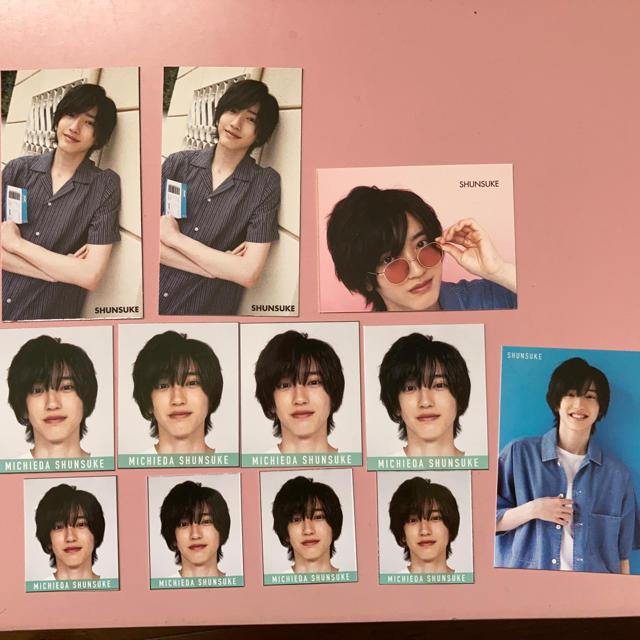 なにわ男子 道枝駿佑デタカ&厚紙カード エンタメ/ホビーのタレントグッズ(その他)の商品写真