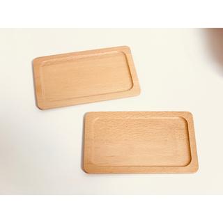 新品◆木製コースター スクエア カフェ トレー 2点セット【送料無料】(テーブル用品)