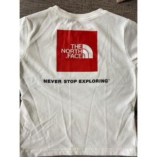 ザノースフェイス(THE NORTH FACE)のノースフェイス キッズロゴTシャツ110cmホワイト(Tシャツ/カットソー)