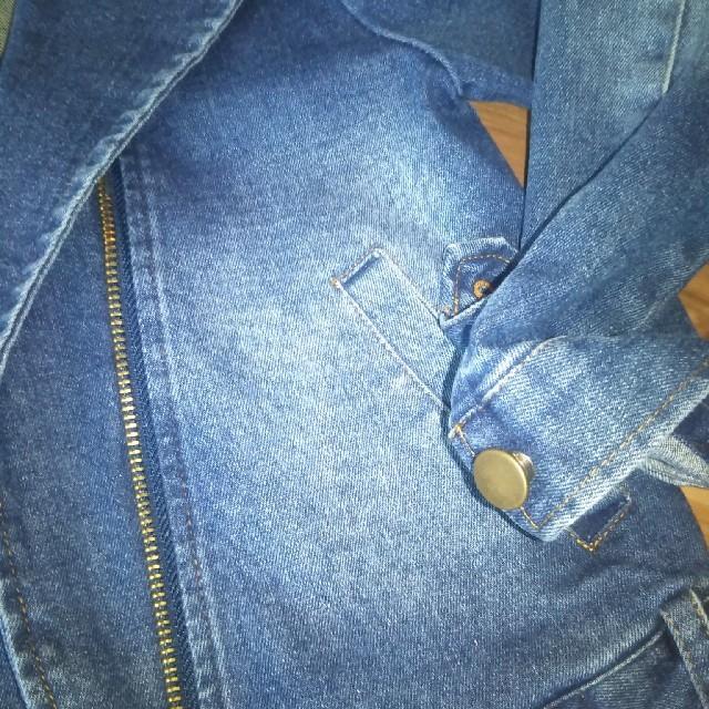futafuta(フタフタ)のデニムライダースジャケット 120 キッズ/ベビー/マタニティのキッズ服女の子用(90cm~)(ジャケット/上着)の商品写真