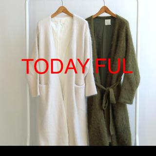 トゥデイフル(TODAYFUL)のTODAY FULアンゴラロングガウン(ニット/セーター)