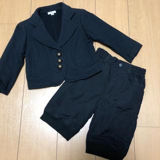 コムサイズム(COMME CA ISM)の100 ジャケット ズボン セット 送料込み(ドレス/フォーマル)