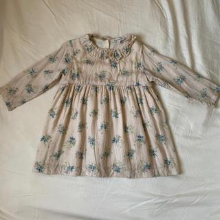 Caramel baby&child  - caramel baby&child 花柄ワンピース ベージュ 2Y