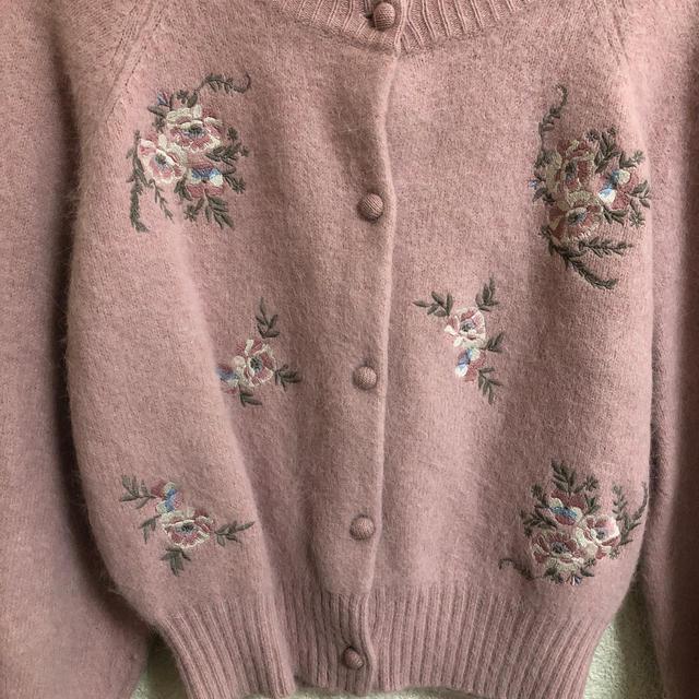 snidel(スナイデル)のsnidel  花刺繍ニットガーデン レディースのトップス(ニット/セーター)の商品写真
