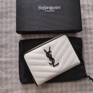 Yves Saint Laurent Beaute - /送料無料/イヴサンローラン 二つたたみ 折り財布 コイン入れ
