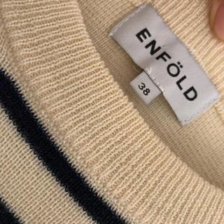 ENFOLD - エンフォルド ボーダー ニット ウール100% 38