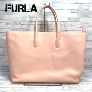 フルラ(Furla)のFURLA フルラ  レザー ハンドバッグ  薄ピンク系 トートバッグ(ハンドバッグ)