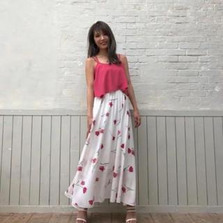 rienda - リエンダ 花柄スカート