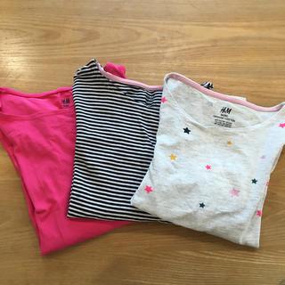 エイチアンドエム(H&M)のh&m 長袖カットソー  3枚セット 120㎝(Tシャツ/カットソー)