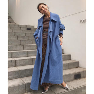 送料込⭐️ameri vintage BIG COLLAR LONG COAT