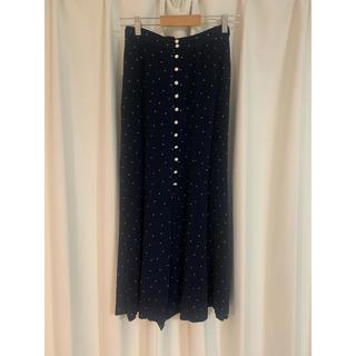 フィーニー(PHEENY)のPHEENY フィーニーRayon dot button-down skirt (ロングスカート)