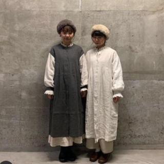 SM2 - 袖配色タックワンピース 立川限定 キナリ