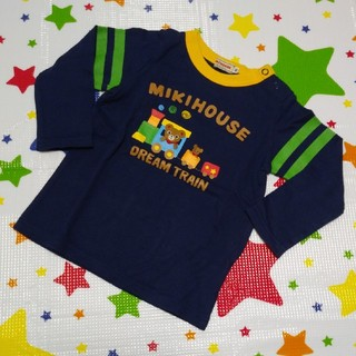 mikihouse - ミキハウス トレイン長袖Tシャツ 90cm 汽車 プッチーくん ロンT
