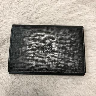 ロエベ(LOEWE)の美品 正規 ヴィンテージ ロエベ   loewe カードケース パスケース 黒(名刺入れ/定期入れ)