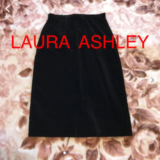 ローラアシュレイ(LAURA ASHLEY)のローラアシュレイ ベロア生地スカート(ひざ丈スカート)
