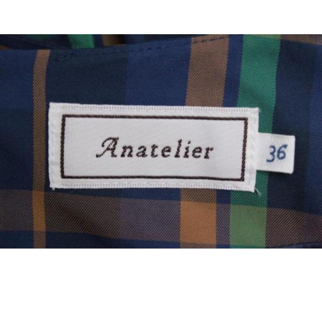 anatelier(アナトリエ)の美品♡アナトリエ♡チェック♡ワンピ レディースのワンピース(ミニワンピース)の商品写真