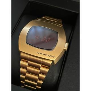 ハミルトン(Hamilton)のHamilton ハミルトン PSR ゴールド 限定(腕時計(デジタル))