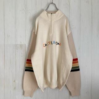 カステルバジャック(CASTELBAJAC)のカステルバジャック castelbajac ハーフジップニットセーター 刺繍ロゴ(ニット/セーター)