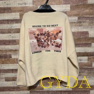 GYDA - 今季新品完売色 GYDA  カラーグラフィックニット トップス