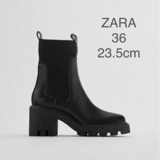 ZARA - 【新品・未使用】ZARA トラックソール  ソックス風 アンクル ブーツ