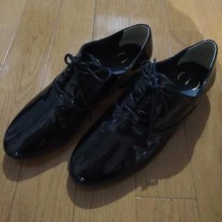 ハコ(haco!)のhaco! エナメルレースアップシューズ (ブラック)(ローファー/革靴)