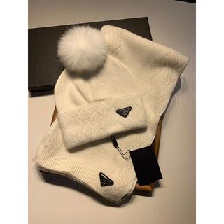 プラダ(PRADA)のPRADA帽子マフラー2点セット(マフラー/ショール)