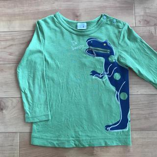 ハッカベビー(hakka baby)のハッカキッズ ハッカベビー zipポケット付き長袖TシャツUV加工 90(Tシャツ/カットソー)