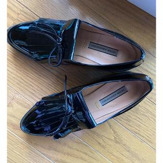 ファビオルスコーニ(FABIO RUSCONI)のINTER-CHAUSSURES 新品未使用 エナメル 黒(ローファー/革靴)