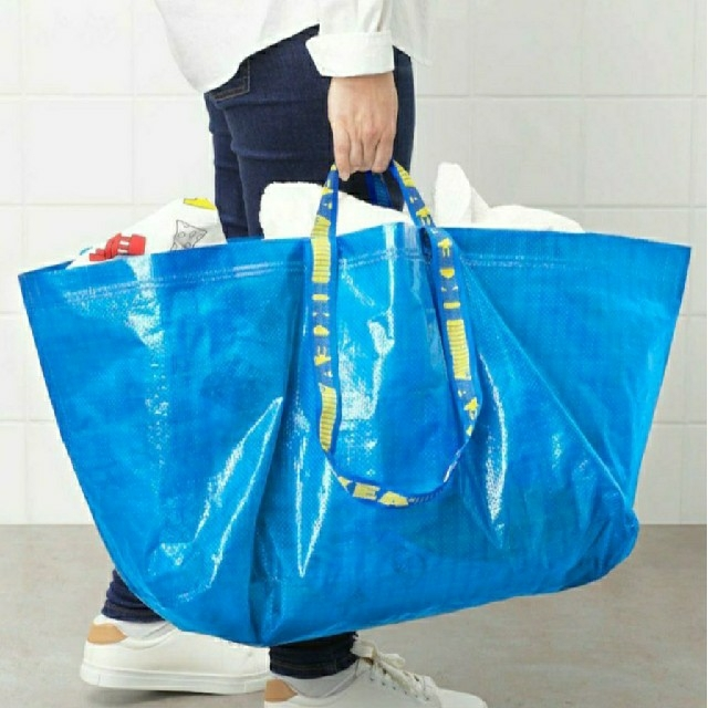 IKEA(イケア)の人気♪IKEA 整理やショッピングバッグ/フラクタ/ブルーバッグ/Lサイズ1枚 レディースのバッグ(エコバッグ)の商品写真