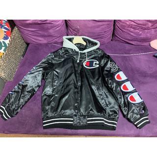 Supreme - Supreme チャンピオン Satin Varsity Jacket Lサイズ