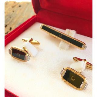 クリスチャンディオール(Christian Dior)の【未使用】 Christian Dior カフリンクス ネクタイピン セット(カフリンクス)