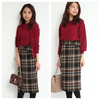 JUSGLITTY - JUSGLITTY♡ベルト付きチェックタイトスカート