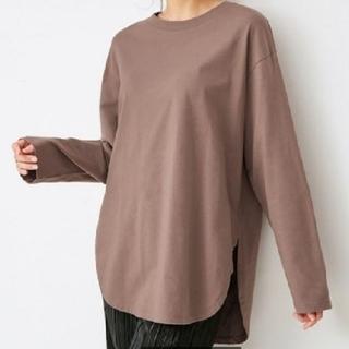 GU - GU ロングスリーブTシャツ Mブラウン