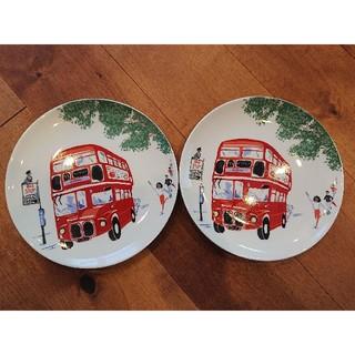 キャスキッドソン(Cath Kidston)の新品 キャスキッドソン ティープレート二枚セット ロンドンバス バス停(食器)
