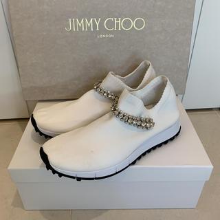 ジミーチュウ(JIMMY CHOO)のJIMMY CHOO  ジミーチュウ スニーカー 36  White (スニーカー)