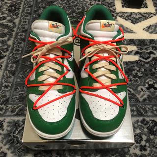 ナイキ(NIKE)のOff White Nike Dunk low pine green 28cm(スニーカー)