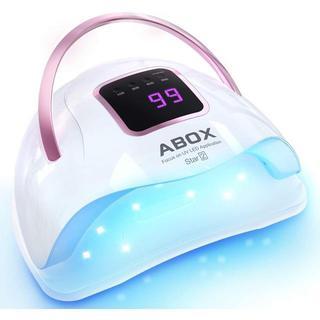 ネイルドライヤー ABOX 72W 硬化用UV+LEDライト 4段階タイマー付き