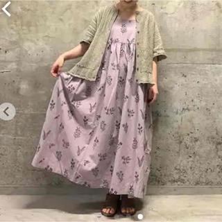 SM2 - tsuharu 綿麻刺繍キャミワンピース パープル サマンサモスモス sm2