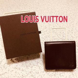 LOUIS VUITTON - ルイビトン2つ折り財布 ブラウン フォロー割引きあります。